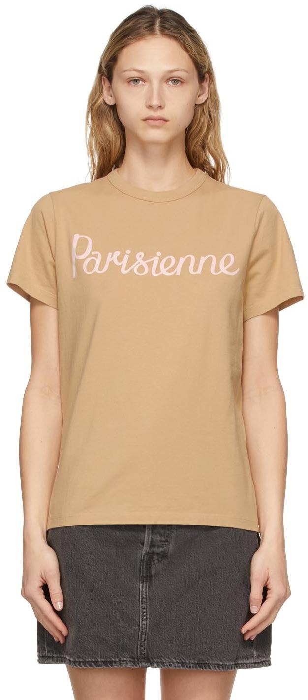 Maison Kitsuné 驼色 Parisienne Classic T 恤