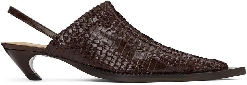 Charlotte Knowles 棕色露跟穆勒鞋