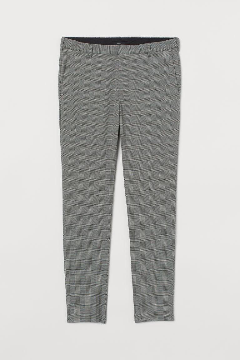 H & M - 緊身西裝褲 - 黑色