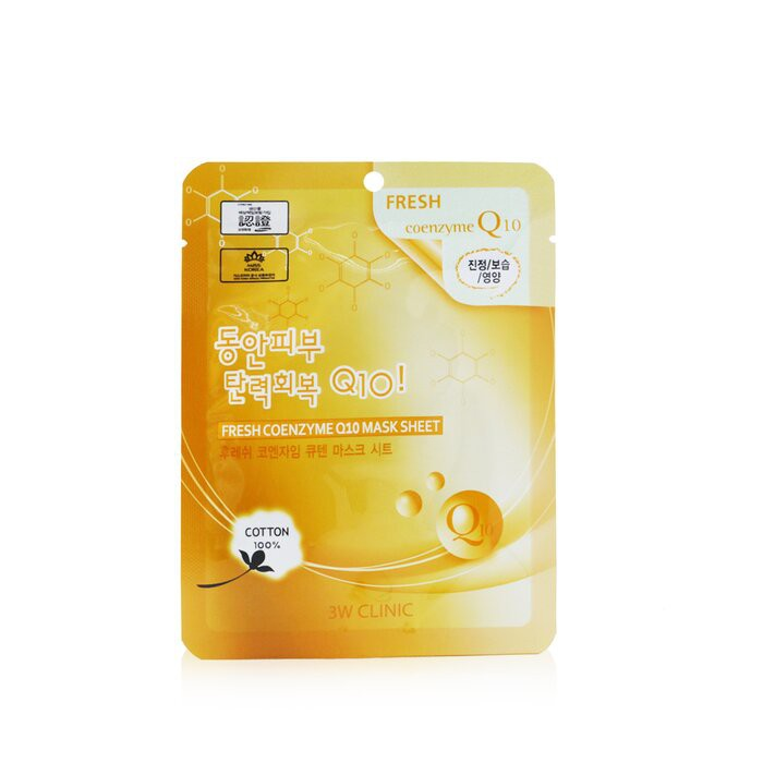 3W CLINIC - 面膜 - 輔酶Q10 Mask Sheet - Fresh Coenzyme Q10