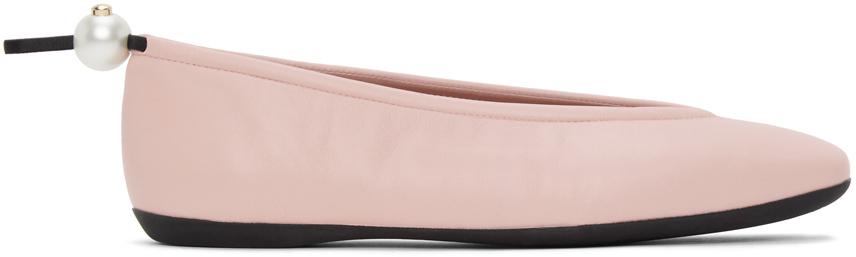 Nicholas Kirkwood 粉色 Delfi 芭蕾鞋