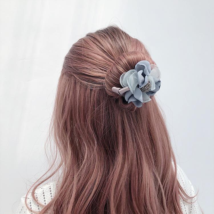 編髮神器韓系優雅花朵丸子頭盤髮器(四色)【RCHB0025】