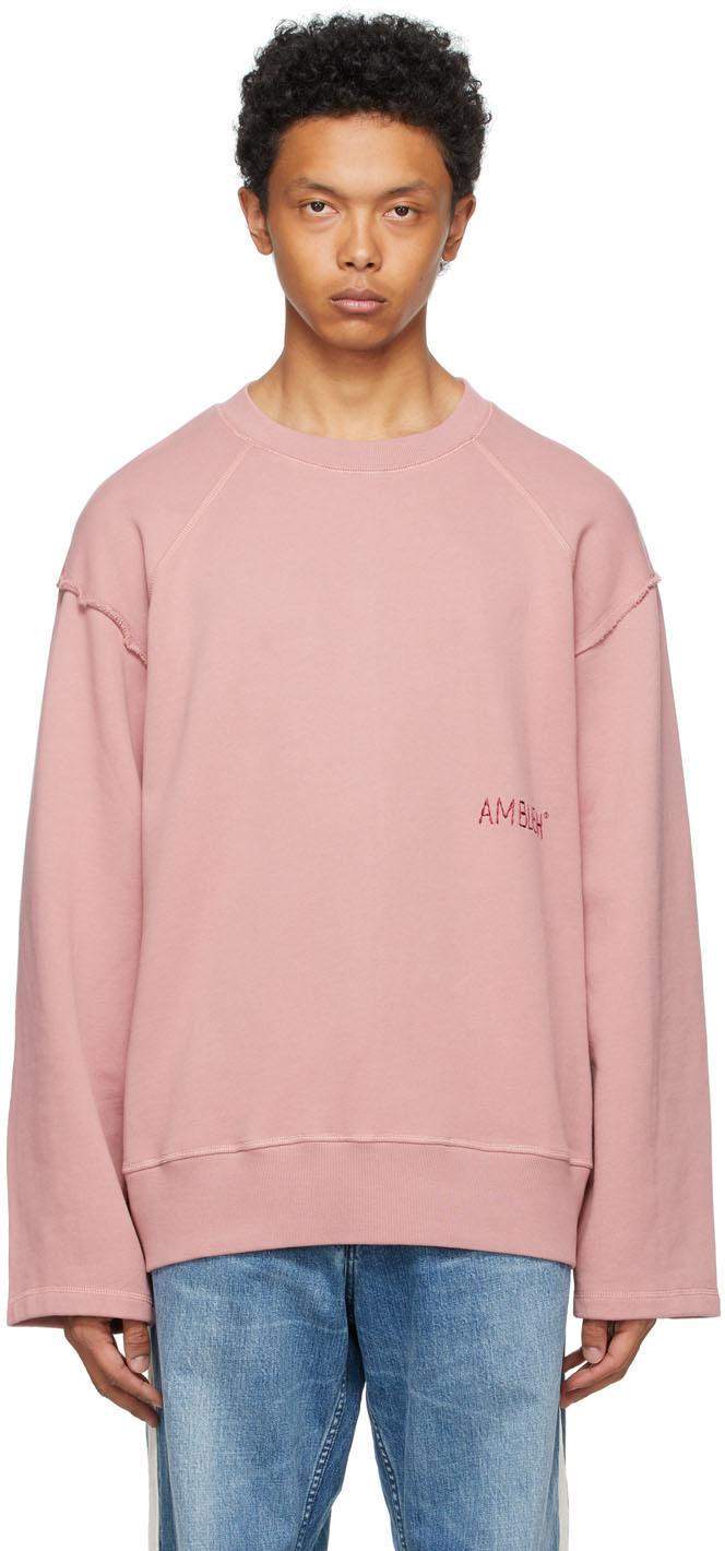 Ambush 粉色 Raw Edge 套头衫