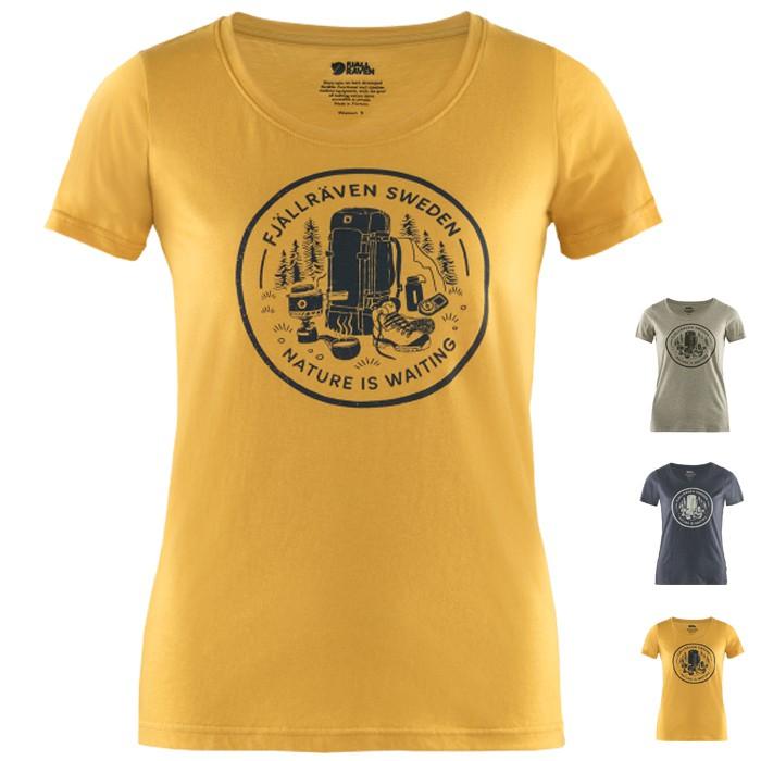 Fjallraven 北極狐 女款 有機棉再生聚酯纖維混紡圓領短袖針織T恤 Fikapaus T-shirt 83512