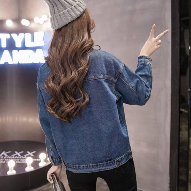 牛仔外套 牛仔外套女春季新款潮韓版學生寬鬆bf薄款夾克衫秋裝短款上衣   夏季新品 果果輕時尚