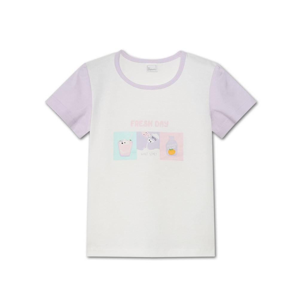 麗嬰房 EASY輕鬆系列 水水美食家短袖上衣-白色(76cm~130cm)