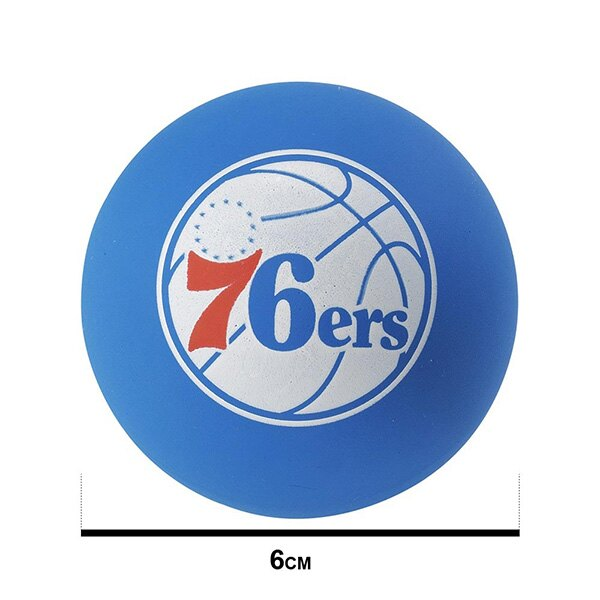 【滿額領券折$150】SPALDING 斯伯丁 彈力球 超彈力小球 NBA  76人 藍色 直徑6公分【SPA51209】