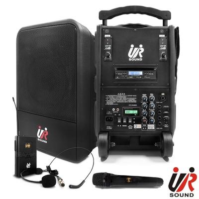 UR SOUND 雙頻藍芽/CD/USB/SD移動式無線擴音機(鋰電一手一腰)PA9223CDNBL