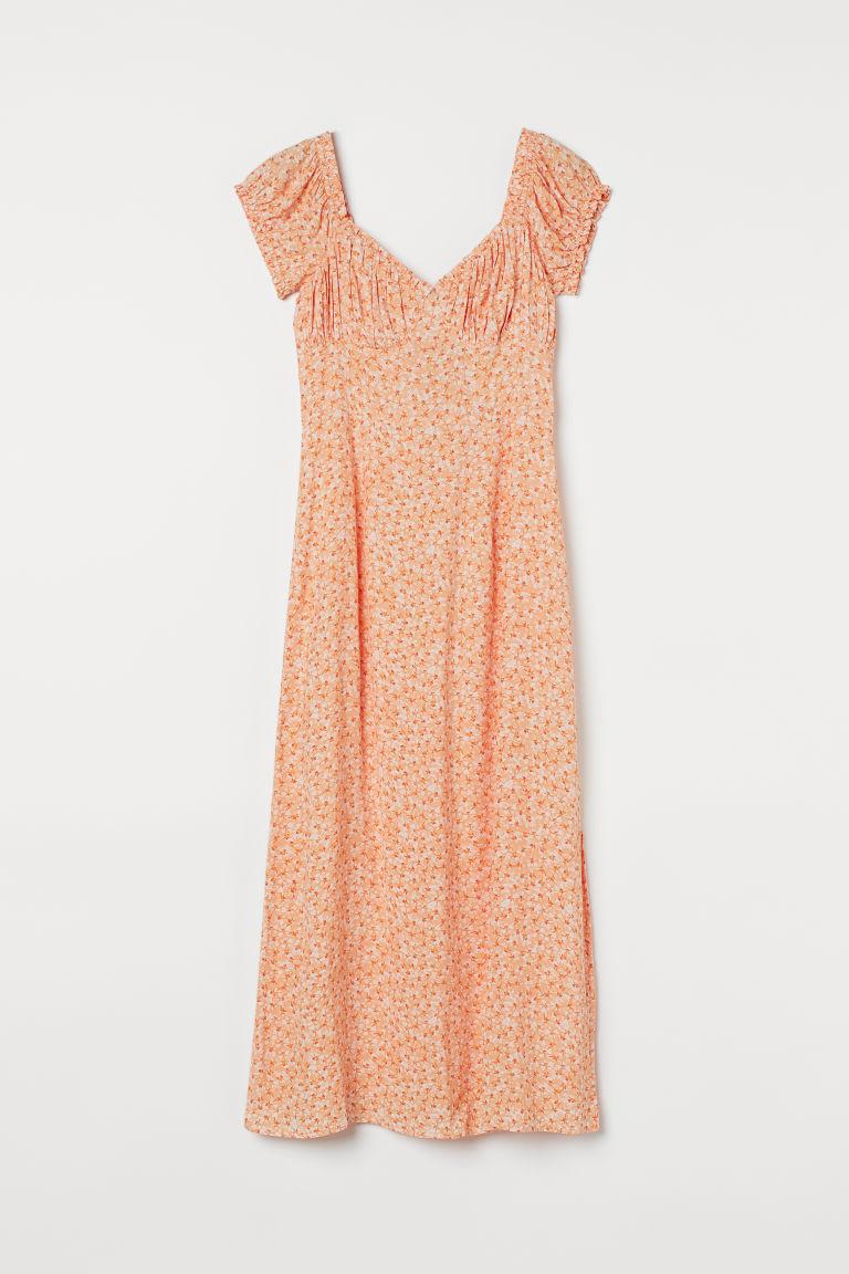 H & M - 露肩洋裝 - 橙色