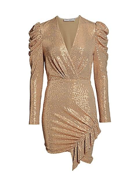 Loulou Metallic Wrap Dress