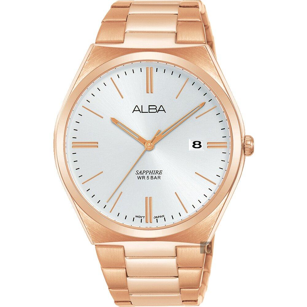 ALBA 雅柏 東京情人時尚手錶(AS9J60X1)-銀x玫塊金/41mm VJ42-X286K