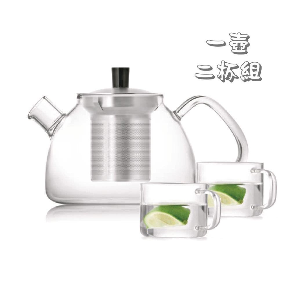 耐熱玻璃茶壺茶杯組