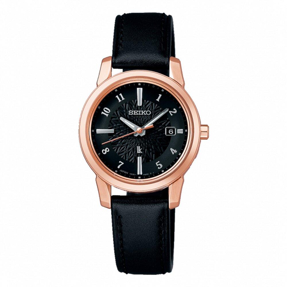 【SEIKO】精工 LUKIA 太陽能 SSQV086J 皮革錶帶 鈦金屬 電波女錶 1B35-0AR0C 黑 28mm