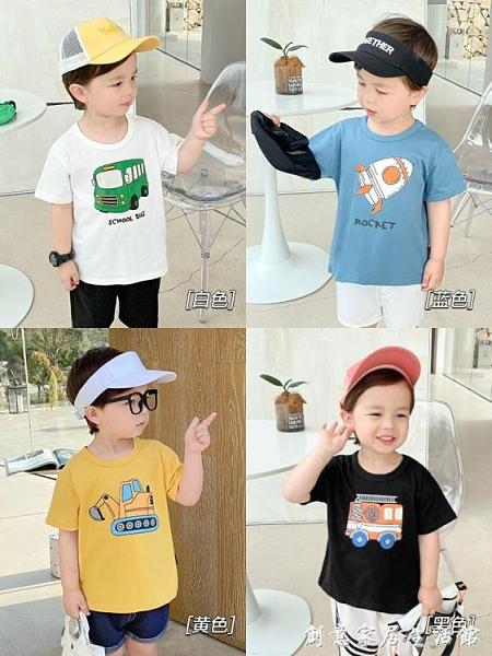 男童純棉印花短袖T恤夏裝夏季嬰兒童裝寶寶1歲3上衣小童潮薄X2373 創意家居