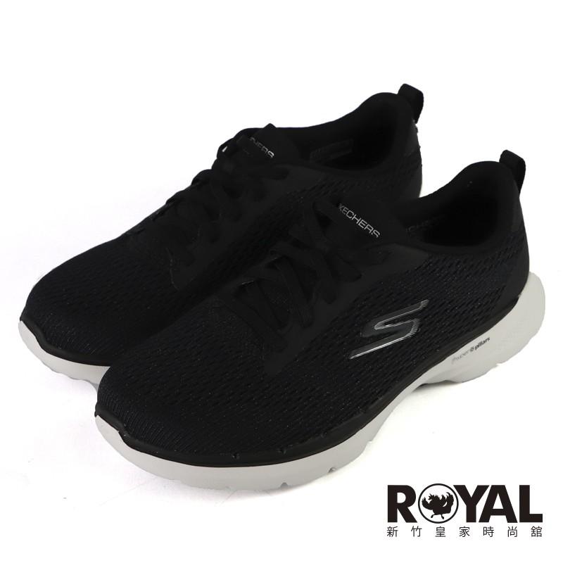 Skechers GoWalk 白黑 輕量 避震 健走 運動鞋 女款 NO.J0862【新竹皇家 124512WBKW】
