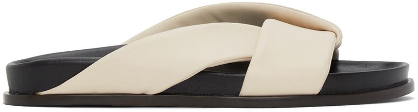 Emme Parsons 灰白色 Folded 拖鞋