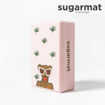 加拿大Sugarmat 頂級瑜珈磚 時髦美洲豹Kiss & Make Up