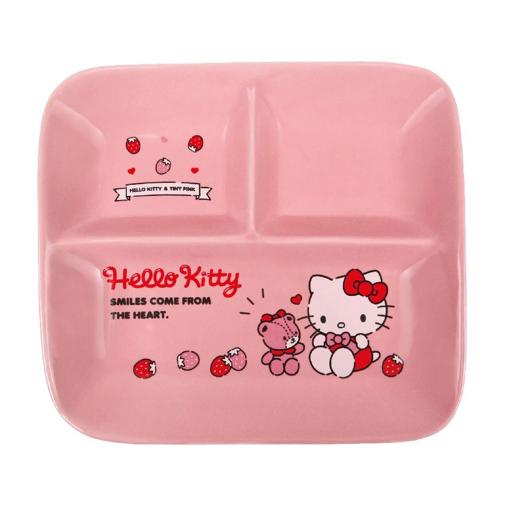 【Sanrio三麗鷗】Hello Kitty方形分隔盤-草莓