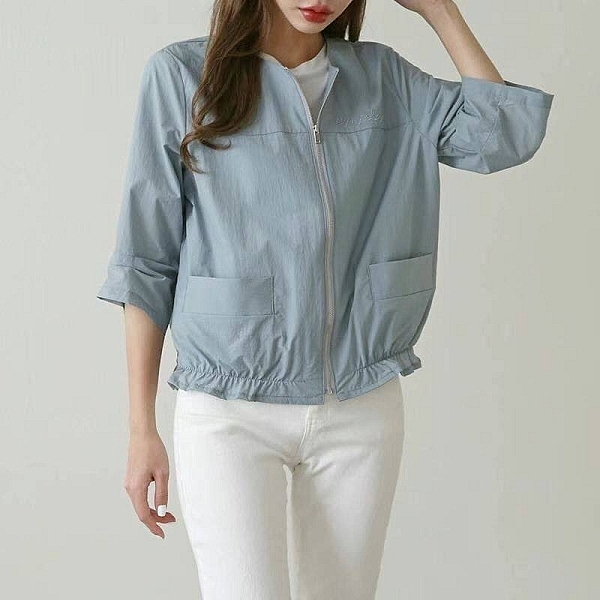 [預購+現貨]韓國-雙口袋七分袖外套(3色)-上衣-K021 -pipima