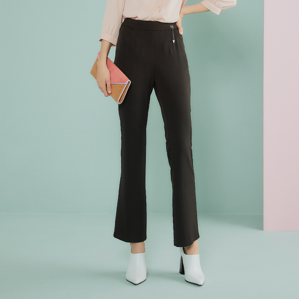 OUWEY歐薇 時尚簡約修身西裝褲(黑)J09606
