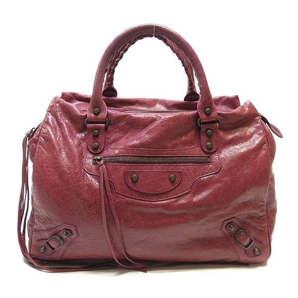 BALENCIAGA 巴黎世家 紅色羊皮手提包409339 【二手名牌 BRAND OFF】