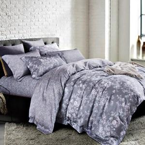 【Betrise多款任選】單雙加均一價-100%奧地利天絲兩用被床包組葉錦-藍-單人