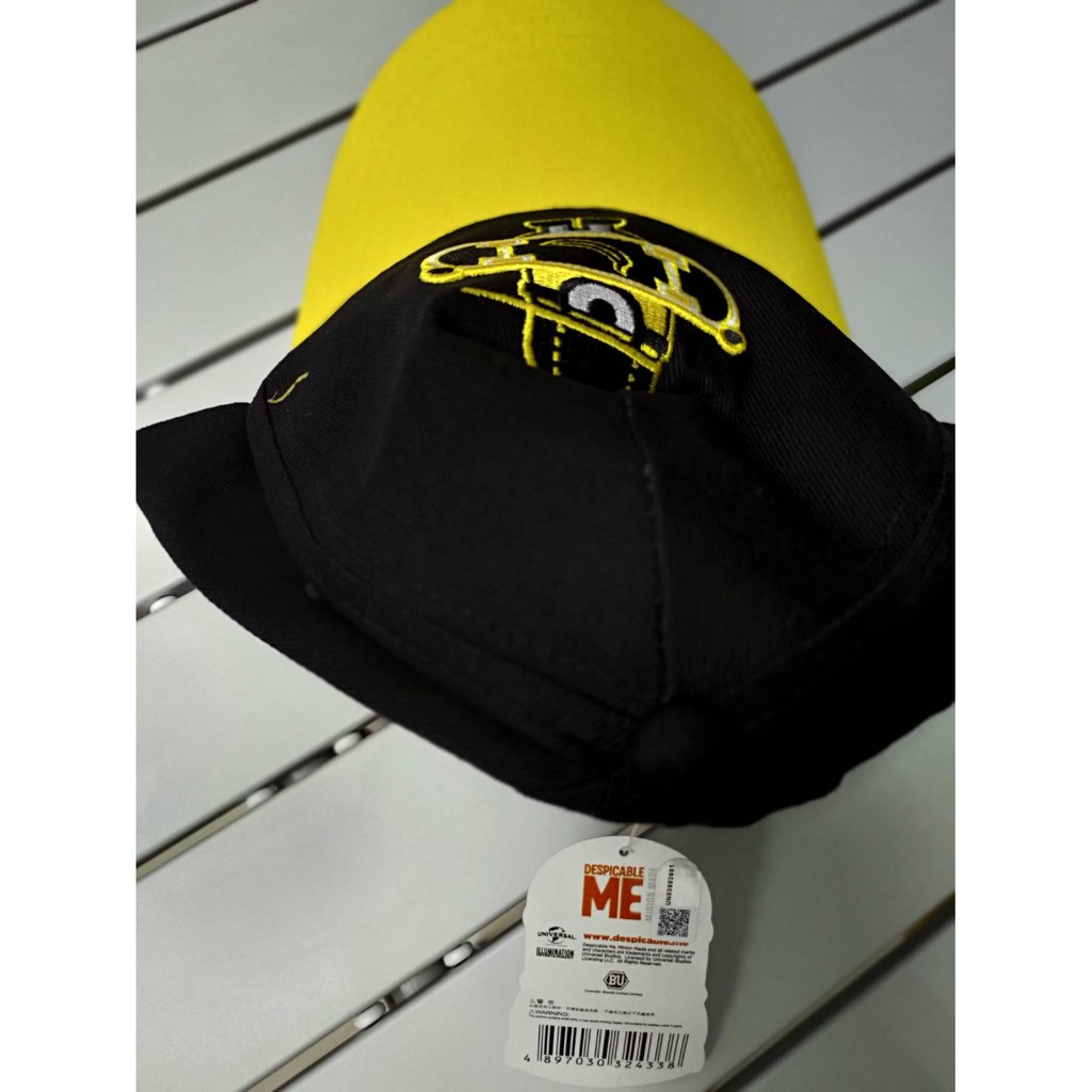 神偷奶爸 Minion 帽子黃色黑色黑色