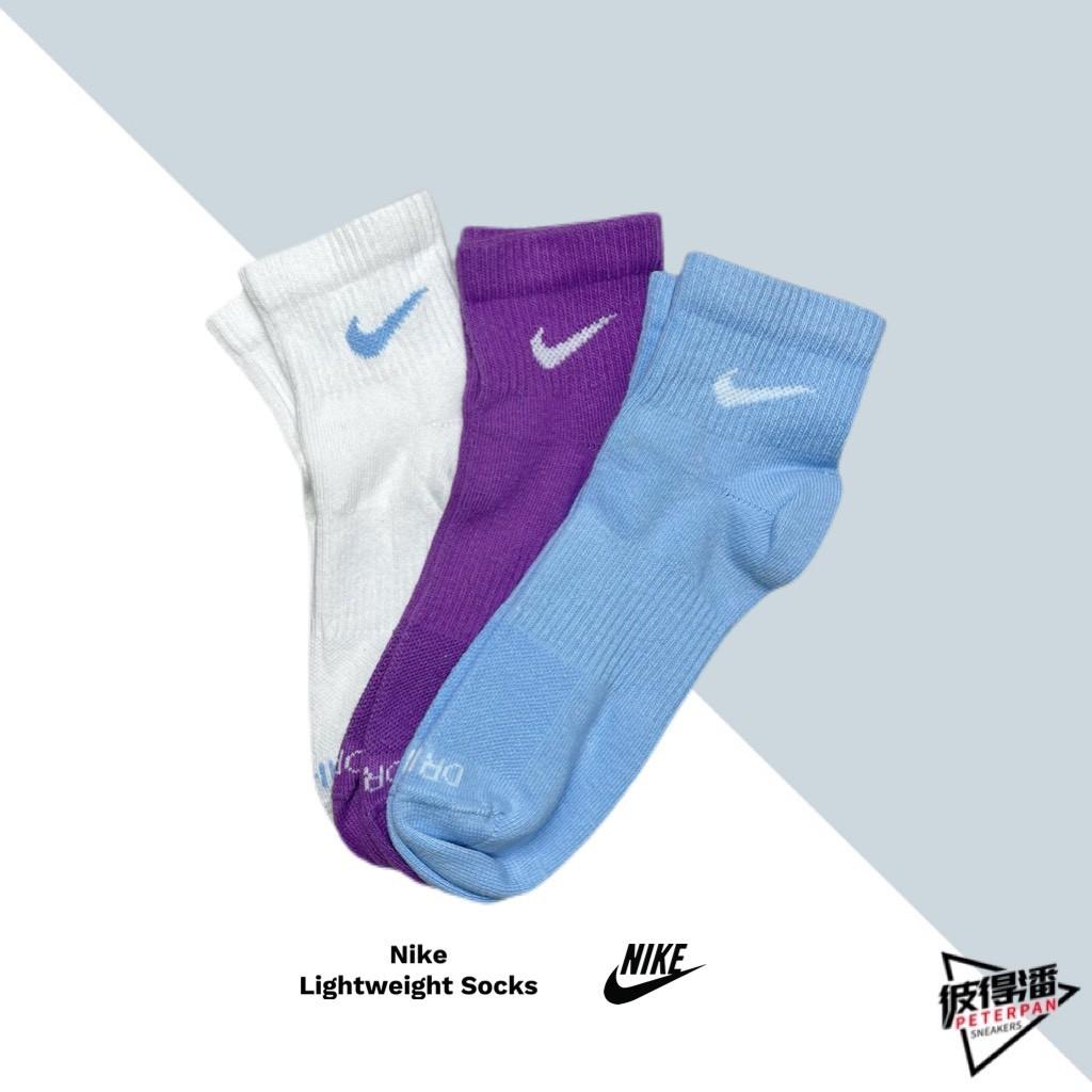 NIKE SOCKS CREW 踝襪 襪子 小勾 白紫藍 葡萄汽水 情侶 SX6893-906 【彼得潘】