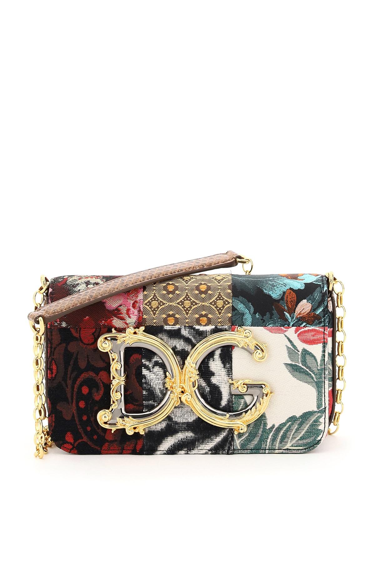 Dolce & Gabbana Patchwork Dg Girls Barocco Mini Bag