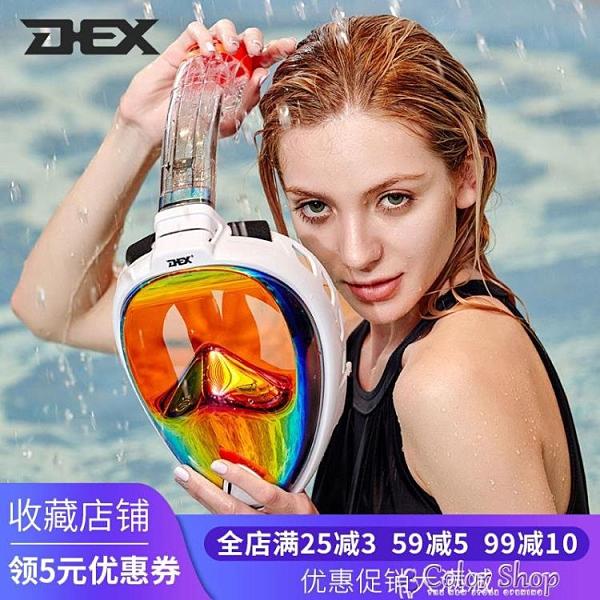 DEX戶外運動裝備潛水鏡浮潛面罩潛水裝備護目鏡高清防霧游泳面鏡 快速出貨
