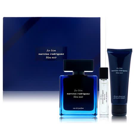 Narciso Rodriguez Blue Noir 紳藍男性淡香精禮盒組 (100ml+10ml +75ml沐浴膠)