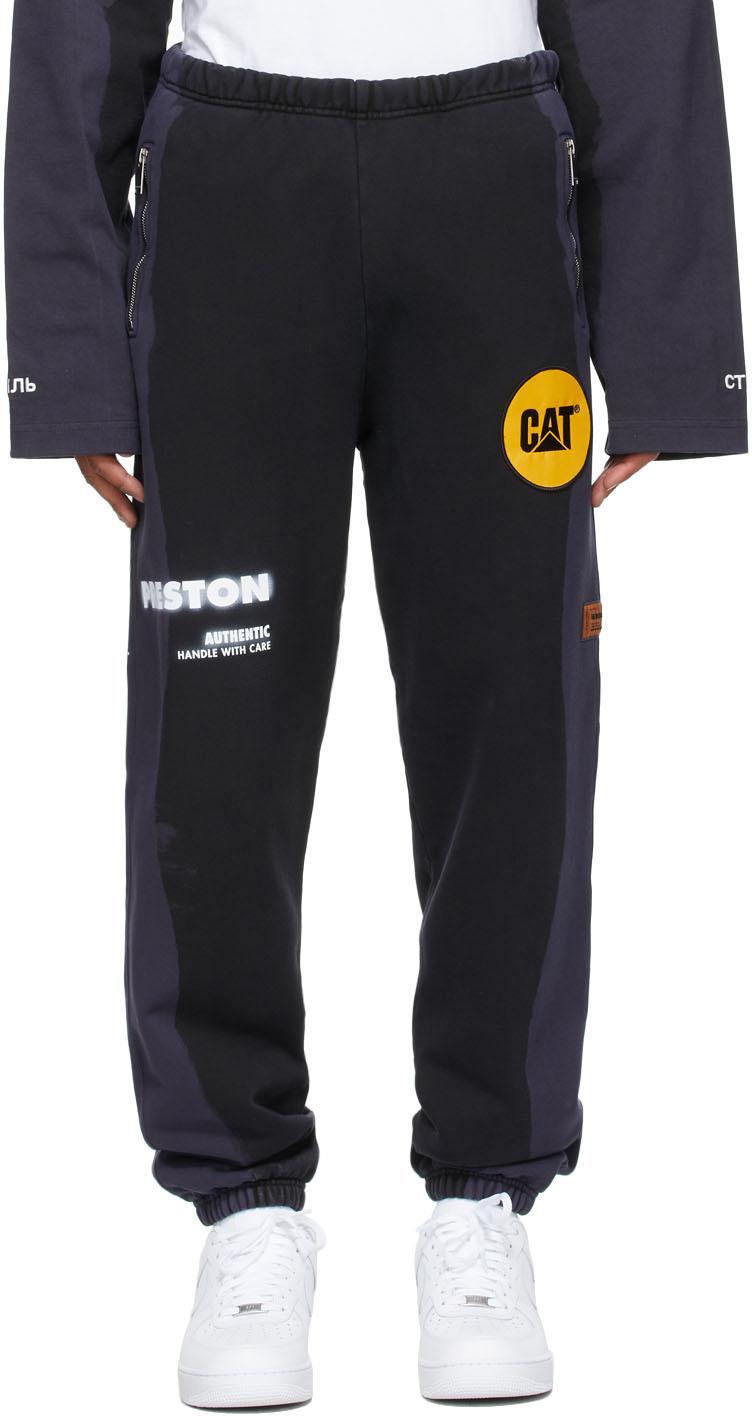 Heron Preston 黑色 Caterpillar 联名贴饰运动裤