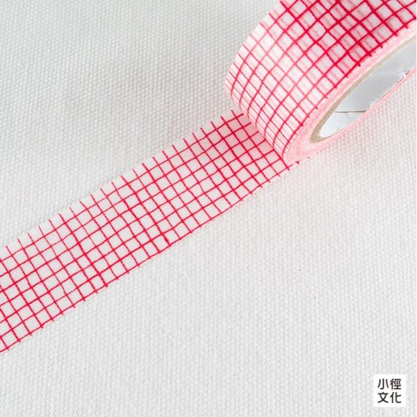 【倉敷意匠】日本進口和紙膠帶 倉敷意匠計畫室 mitsou系列 - 格子_紅 ( 45634-05 )