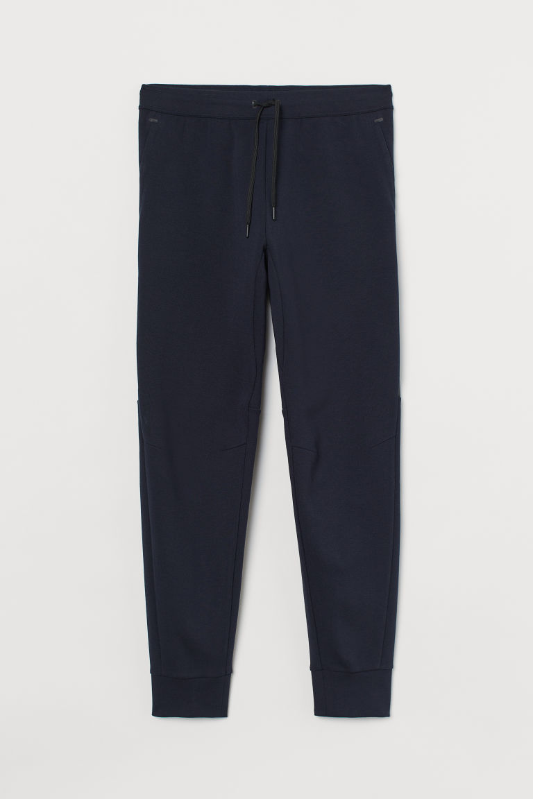 H & M - 運動慢跑褲 - 藍色