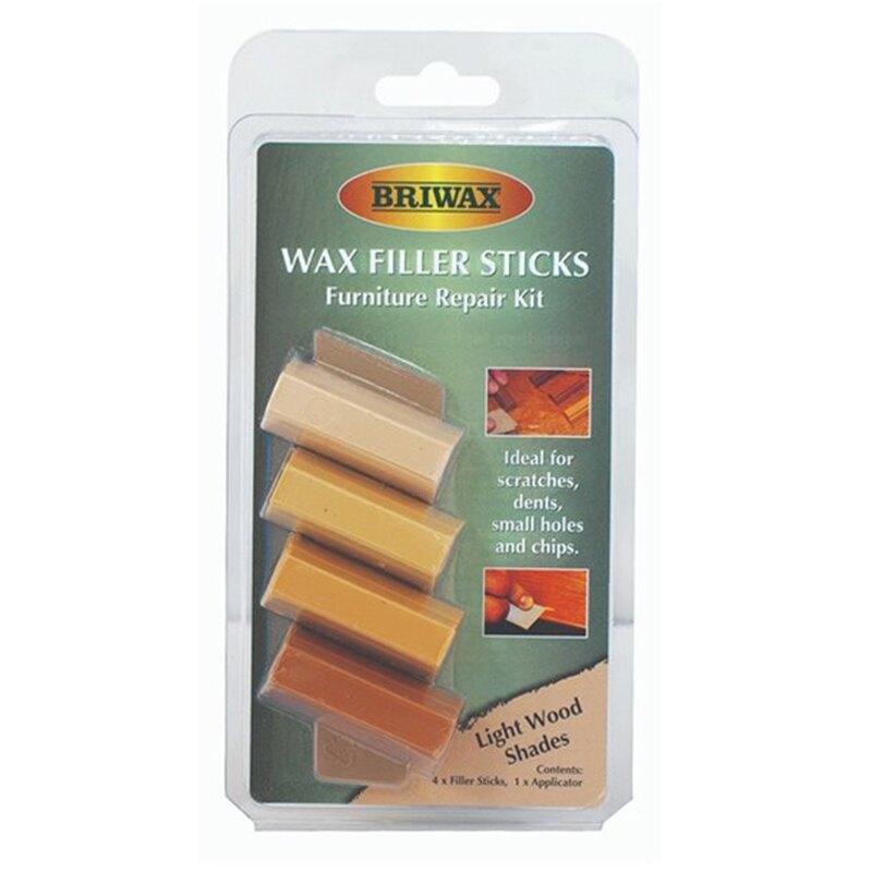 【英國Briwax】木製品補色修復棒-淺色系