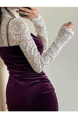 韓國空運 - Shane lace blouse 長袖上衣