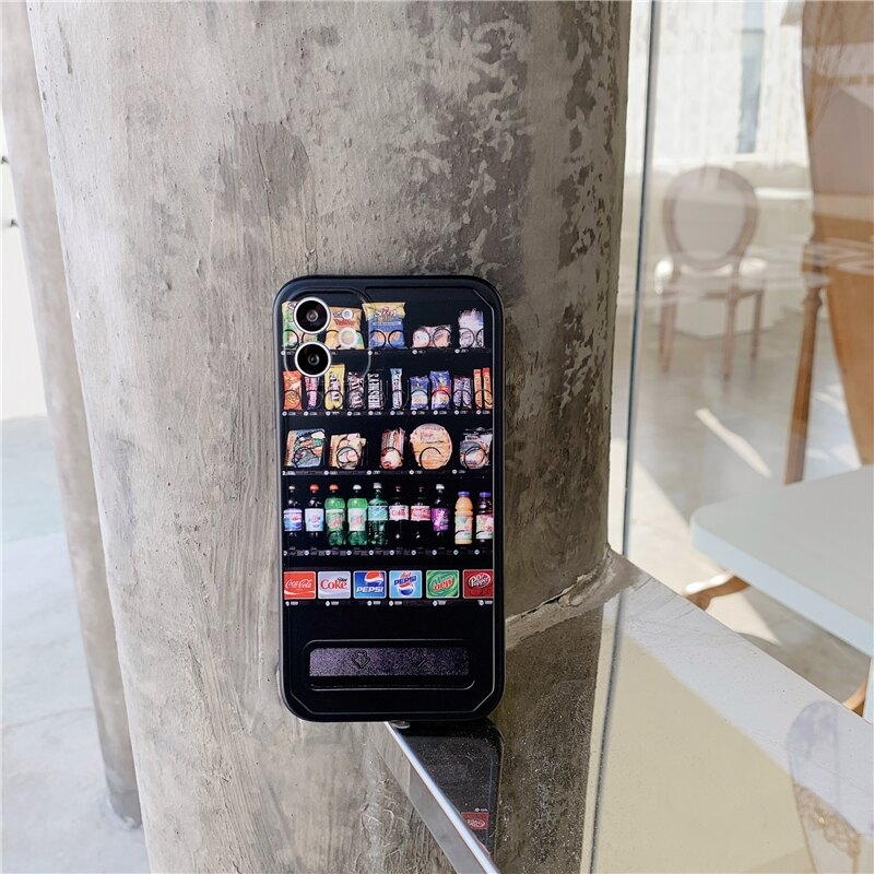 樂天精品 零食販賣機 適用 iPhone12Pro 11 Max Mini Xr X Xs 7 8 plus 蘋果手機殼