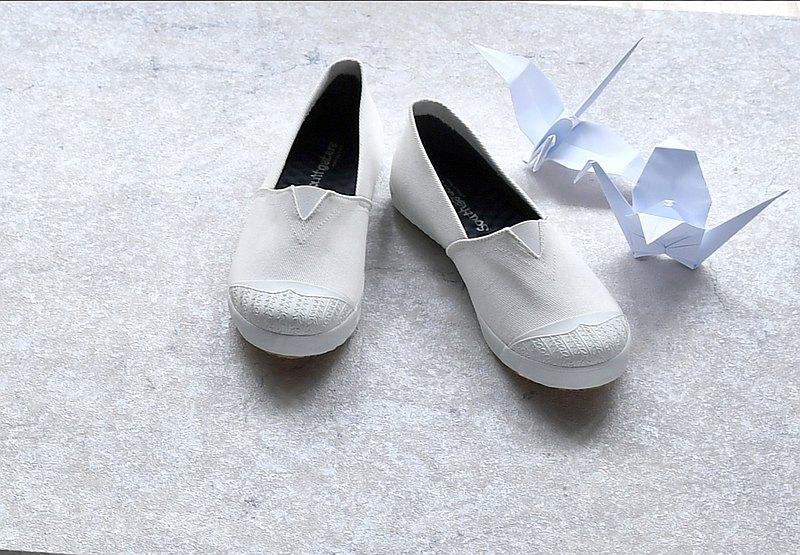 休閒鞋-OPAL棉白 /懶人鞋/夏天/小白鞋