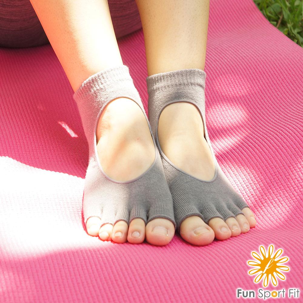 護動麻吉瑜珈運動襪(透氣款)-1入(止滑襪/五指襪/瑜珈襪/yoga Socks)  Fun Sport fit