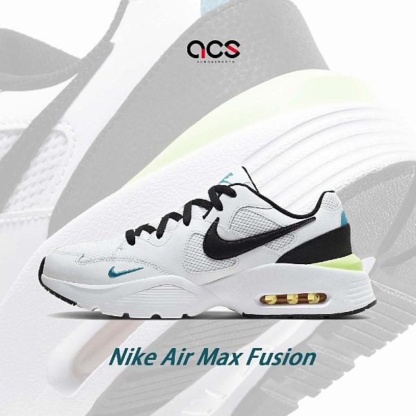Nike 休閒鞋 Air Max Fusion 白 黑 男鞋 氣墊 基本款 【ACS】 CJ1670-103