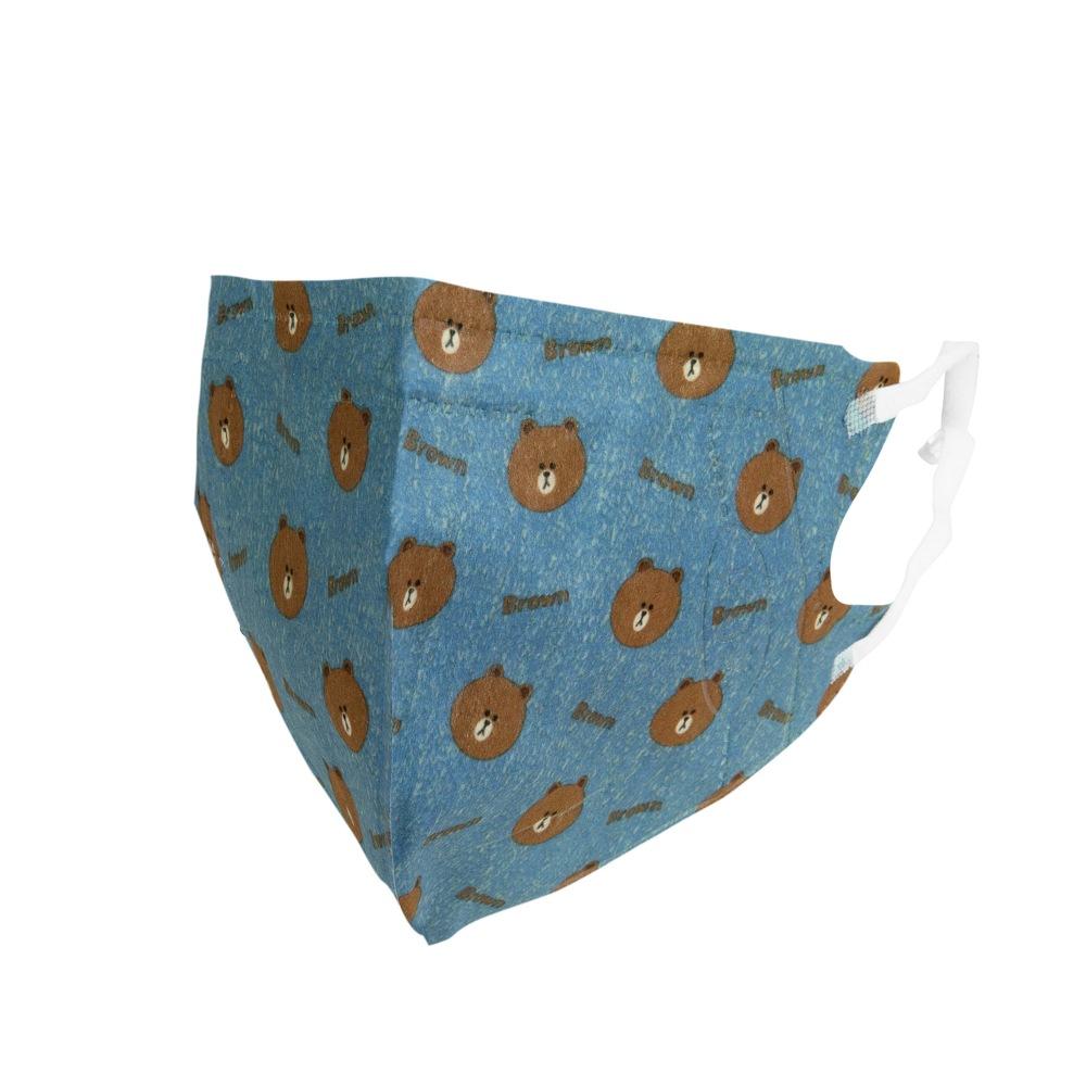 熊大 3D立體口罩-單寧L(盒裝25入)