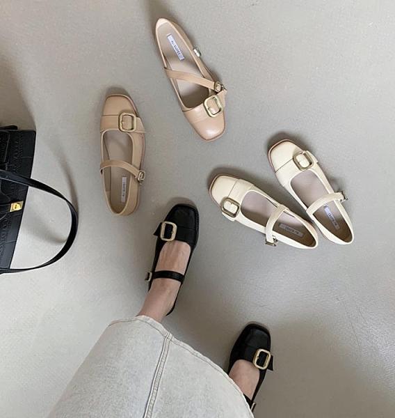 單鞋年新款韓國東大門中跟瑪麗珍春秋女鞋晚晚風溫柔高跟鞋女 格蘭小鋪