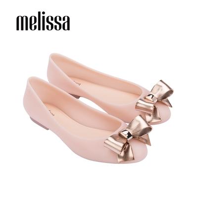 Melissa DOLL金屬光澤立體蝴蝶結娃娃鞋-粉