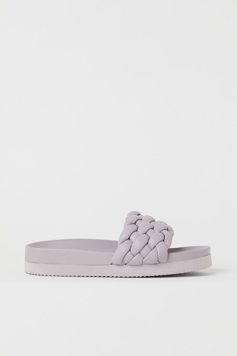 H & M - 編織拖鞋 - 紫色