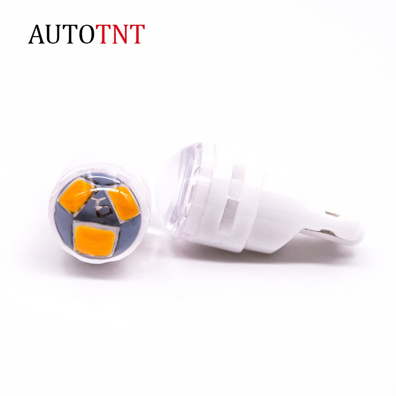 AUTOTNT 陶瓷材質 T10 LED 子彈小燈 與鹵素小燈1:1設計 示寬燈 透鏡小燈 閱讀燈 燈泡 機車
