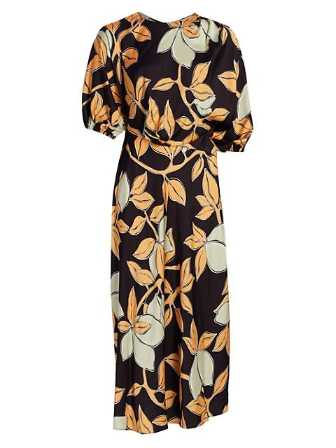 Aubrie Floral Midi Dress