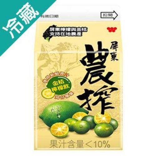 農搾金桔檸檬飲375ML /瓶【愛買冷藏】