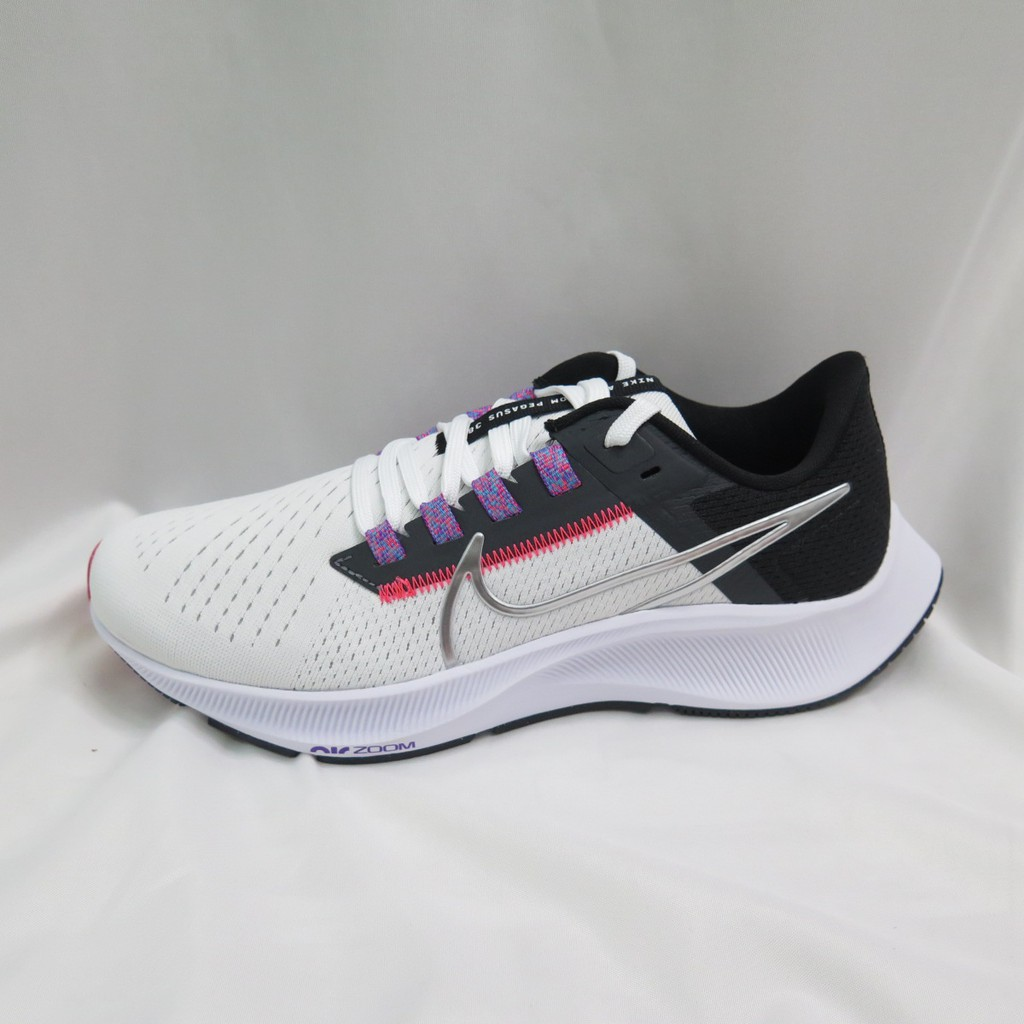 NIKE WMNS AIR ZOOM PEGASUS 38 女款 慢跑鞋 CW7358101 白黑【iSport愛運動】