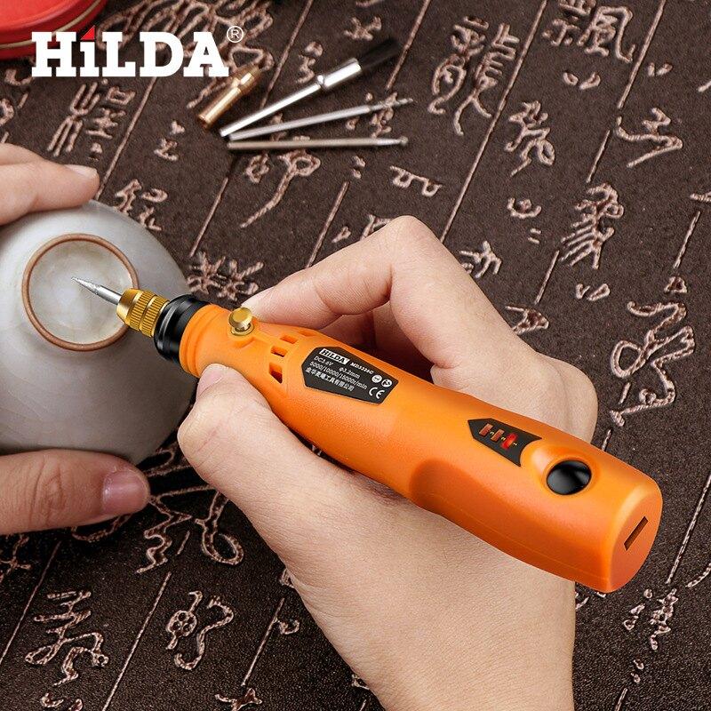 希爾達鋰電充電小電磨機迷你玉石雕刻筆3.6v電動小電鉆配件套裝 新店開張全館五折