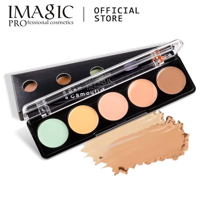 IMAGIC 5色自然粉底遮瑕膏遮蓋雀斑斑點痘印黑眼圈修容持久防水遮瑕